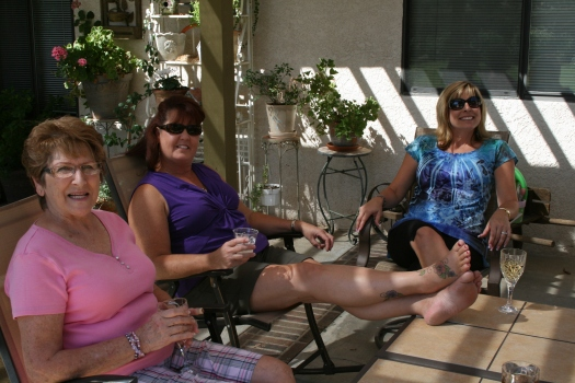 Mom, Sue, and Gina