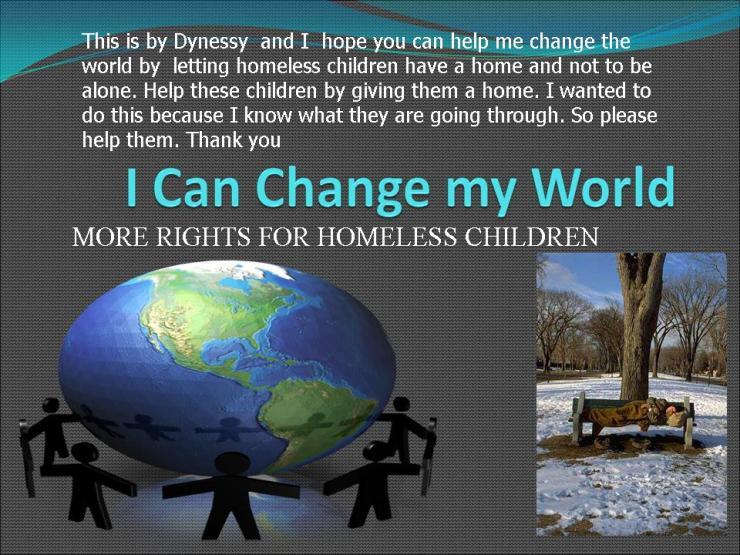 I Can Change my World!