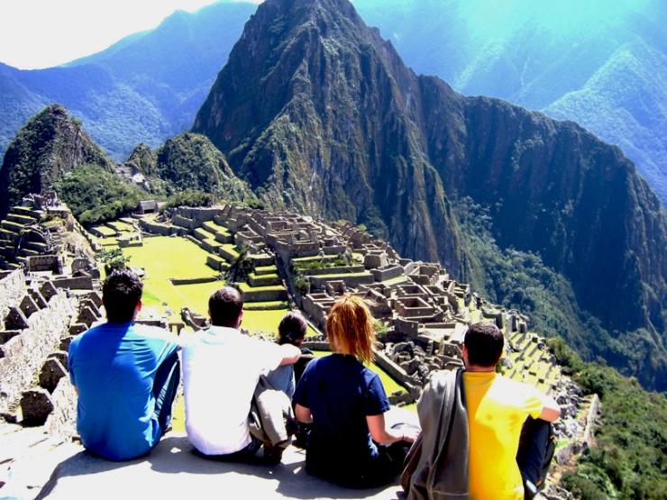 Overlooking the Inca ruins