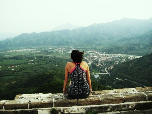 Elya contemplating on the Great Wall