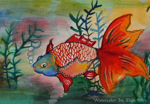 Elya's Fish Watercolor