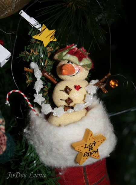 saltdough snowman