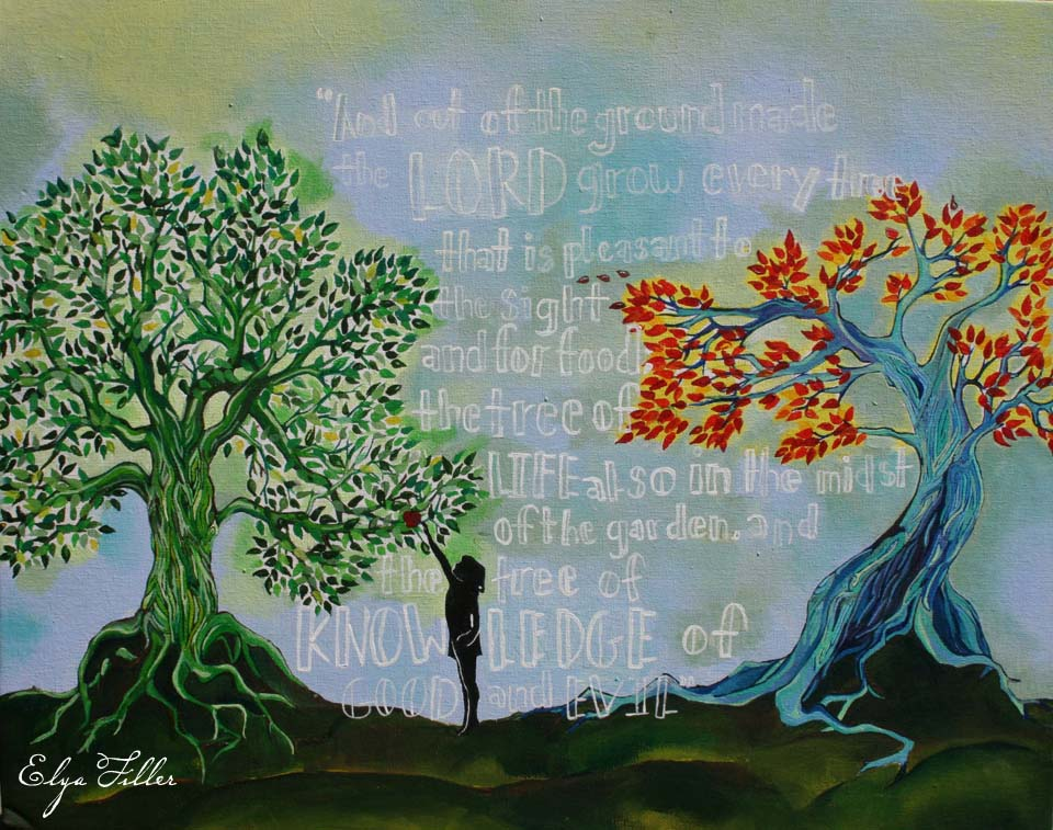 Landscape Acrylic Paintings: Tree of Life by Janice Czerwinski
