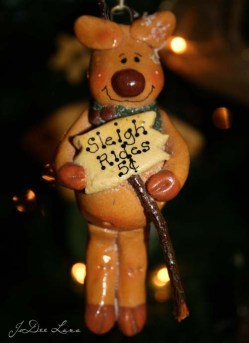 Dough Art Rudolph Reindeer Sleigh Rides500
