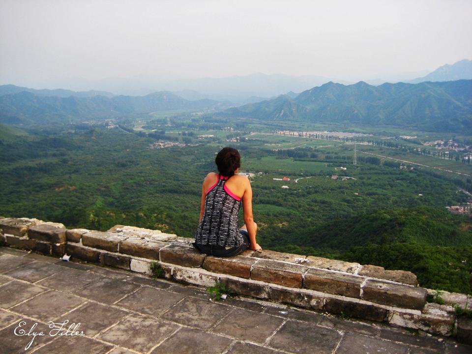 Elya on Great Wall of China