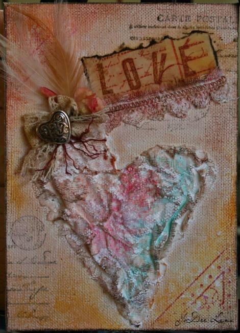 Love Mixed Media Heart