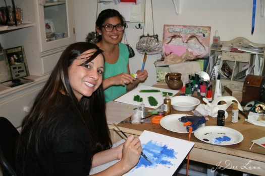 Andy and Elya Painting