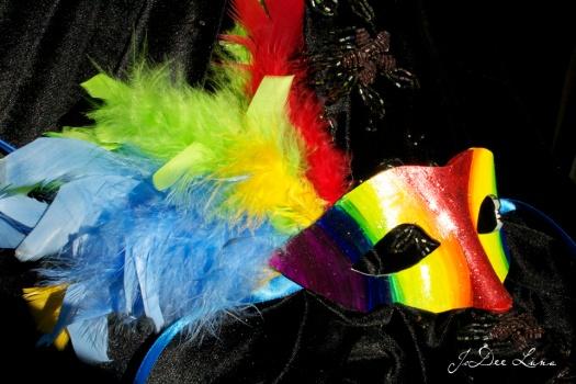 Rainbow Masquerade Mask