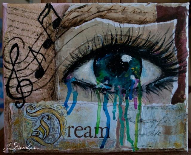 Dream Mixed Media with Eye