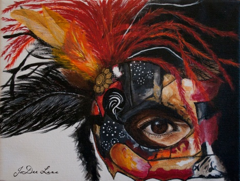Acrylic Mask Painting Warrior Princess