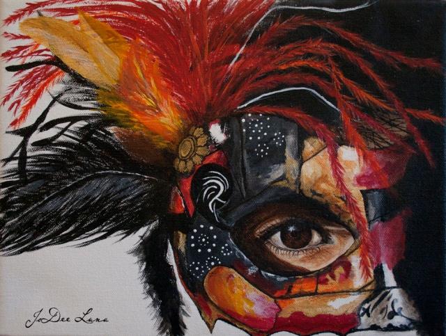 Acrylic Mask Painting Warrior Princess