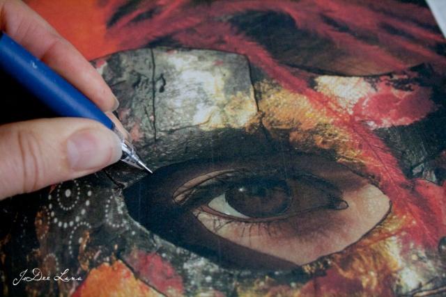 Tracing Warrior Princess Mask Photo