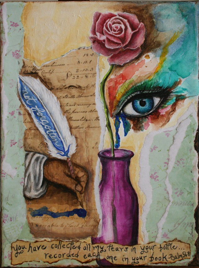 Tears in a Bottle Mixed Media