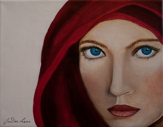 The Fighter, Acrylic Painting by JoDee Luna