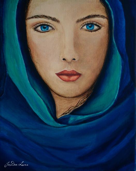 The Seer, Acrylic Painting by JoDee Luna