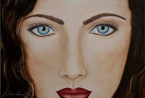 The Seeker, an Acrylic Portrait by JoDee Luna