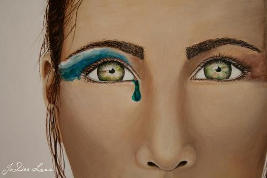 The Burden Bearer's Eyes, Acrylic  by JoDee Luna