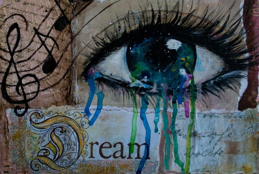 Dream Eye Mixed Media by JoDee Luna