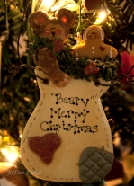Beary Merry Christmas Salt Dough Art Sculpture