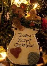 Beary Merry Christmas Salt Dough Art Sculpture