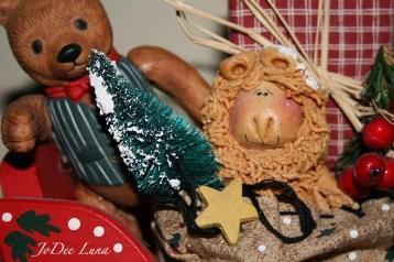 Dough Art Lion in Sleigh JoDee Luna