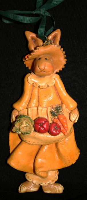 Garden Rabbit Dough Art Sculpture