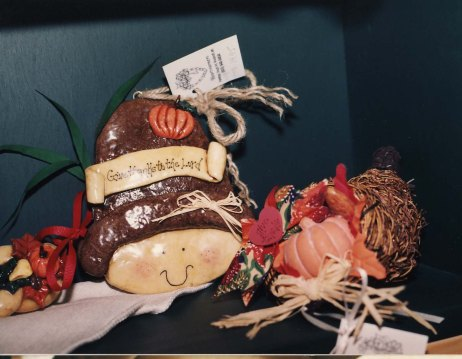 Give Thanks Pilgrim Dough Art