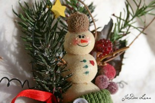 Salt Dough Ornament in Stocking