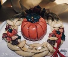 Thanksgiving Dough Wreath with Dough Pumpkin JoDee Luna