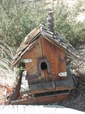 Dads Birdhouse with Horse Shoe
